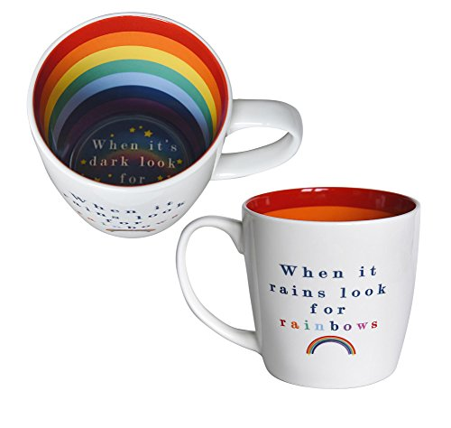 When It Rains Look For Rainbows Inside Out Mug In Gift Box Special Mugs Gifts