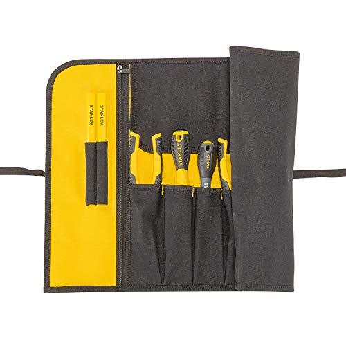 Stanley Rolltasche (64 x 39 x 2 cm, robustes 600 x 600 Denier Cordura-Nylon, 12 Fächer, inkl. großer Dokumententasche sowie Stifthalter, unbestückt) 1-93-601