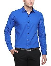 Cotton Tree Men's Casual Shirt_06_Blue_XXL