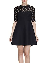 Valentino Damen MB3VABG53600NO Schwarz Wolle Kleid