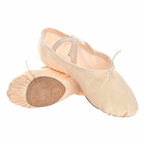 s.lemon Scarpe Danza Classica Tela Morbido Scarpe da Ballo Scarpette da Danza Ballerina con Suola Diviso Ballo Pantofole per Le Ragazze Bimba Donna delle Signore Uomini (41 EU)
