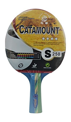 Balls Giant Dragon (Kounga Table Tennis Racket Giant Dragon Catamount-4 Stars Tischtennisschläger, Rot / Schwarz, Einheitsgröße)