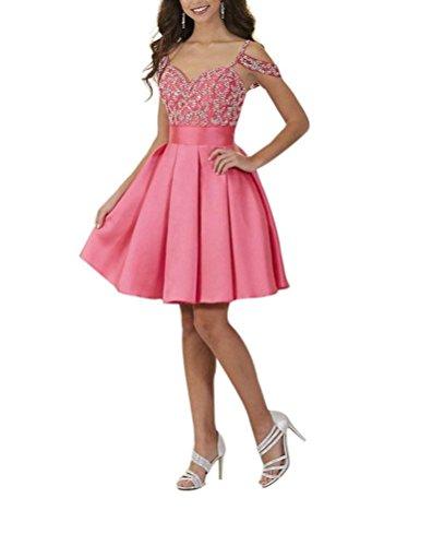 DressyMe Damen Plissee Kleid Gr. 40, Pfirsich (Pfirsich Plissee)