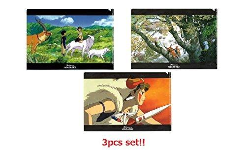 [3Set] Movic Studio Ghibli princesa Mononoke A5claro archivo batalla tiempo, bosque que Kodama vida & LET 'S vivir juntos de Japón