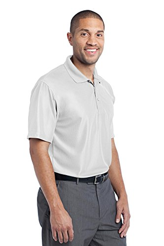 Port Authority Performance Herren Vertikal Pique Polo Weiß