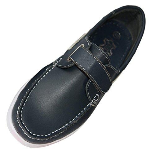 Beverly Originals Herren Leder Bootsschuh Men's Casual Klett navyblau