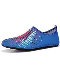 YIRUIYA - Escarpines de Material Sintético para mujer, color multicolor, talla 41.5