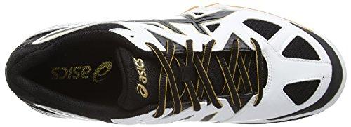 Asics Gel-Tactic, Herren Volleyballschuhe Weiß (white/black/pale Gold 0190)