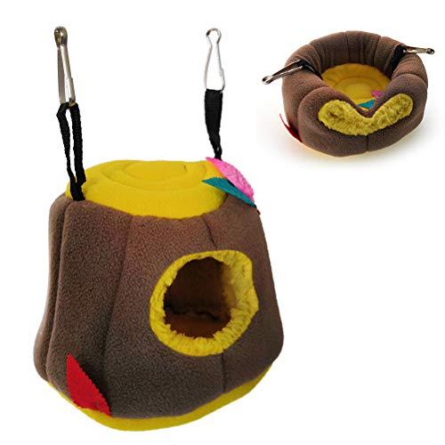POPETPOP Meerschweinchen Bed-Hamster Hängenest Dual Use Plüsch Hängematte Schlafbett für Frettchen Meerschweinchen Ratte Chinchilla, Sugar Glider, Syrischer Hamster, Eichhörnchen, Rennmaus -