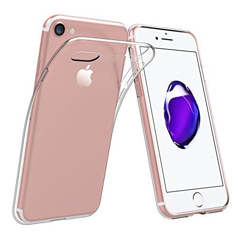 Simpeak für iPhone 7 Hülle, iPhone 8 Hülle, [5-Jahres Garantie] Silikon Transparent Schutzhülle Case Cover Bumper für iPhone 7/iPhone 8 (Iphone 4 Haut Bedeckt)