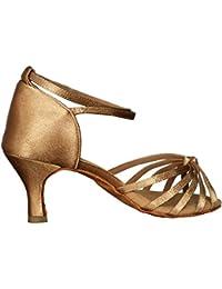 VASHCAME - Donna Scarpe da Ballo Latino Sala da Ballo Standard Tacco 5cm  b7c8446a2bd