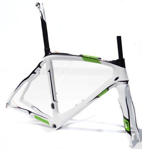 Full Carbon Road Bike Frameset : 56cm Frame Fork Seatpost Clamp Headset by flyxii