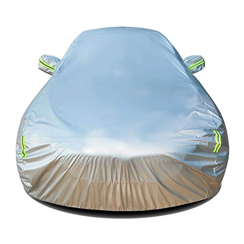 DUWEN Kompatibel mit Toyota Hilux Vollständige Autoabdeckung Wasserdichtes Oxford-Tuch Außenwindschutzscheiben-Staubschutz Sonnencreme Kratzfest UV-beständig Atmungsaktive Autoplane (Color : Silver)