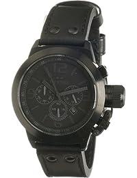 TW Steel TW-843 - Reloj cronógrafo unisex de cuarzo con correa de piel negra - sumergible a 100 metros [Importado de Alemania]