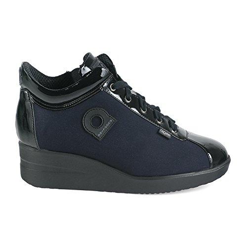 Agile By Rucoline 226 A NEW ULTRA NENE', sneaker donna,scarpe donna,lacci,cerniera,zeppa (35, blu)
