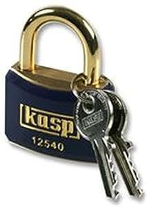 KASP SECURITY K12540BBLUD PADLOCK BRASS 40MM BLUE - Pack of 1