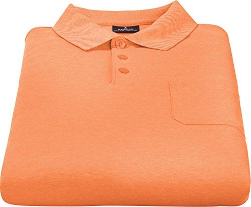 Ragman Herren Kurzarm Softknit Poloshirt Mandarine