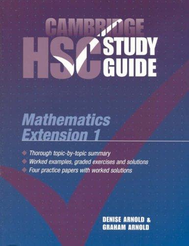 Cambridge HSC Mathematics Extension Study Guide (Cambridge HSC Study Guides)