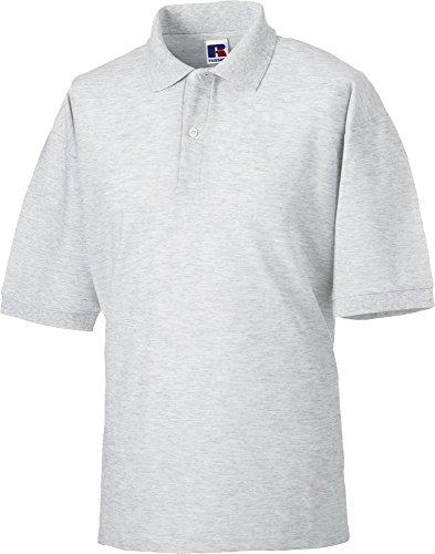 Russell Herren Classic Casual Polycotton Flat Strickbündchen Ideal Man Polo-Shirts Blau - Marineblau