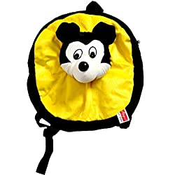 Angel Soft Toys Cute Soft Toy Play School Bag for Kids/Picnic Bag in Wonderful Colours With a Cute Mouse on Bag.