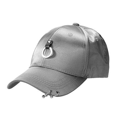 Unisex Snapback Adjustable Baseball Cap Hip Hop Hat Cool Bboy (Gray) - Bboy-baseball-cap