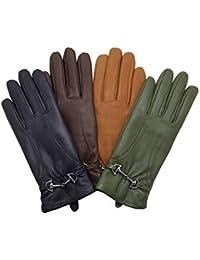 a242565e5b8 YISEVEN Soft Womens Winter Leather Warm Driving Guantes de piel de cordero  100% puro