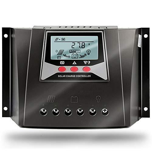 SolaMr 60A Solarladeregler 12V/24V/36V/48V Automatische Spannungserkennung Intelligenter Regler mit LCD Display für Solar Home System - WP6048D