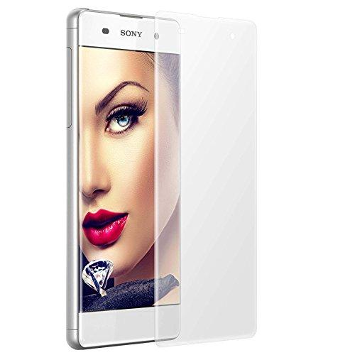 mtb more energy® 3D Protector de pantalla curvo de vidrio templado para Sony Xperia XA (F3111, 5.0'') - 2.5D - Cobertura completa bordes redondeados-