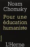 Pour une éducation humaniste