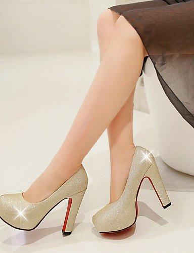 ShangYi Damenschuhe - High Heels - Hochzeit / Kleid / Lässig - Kunstleder - Stöckelabsatz - Absätze / Plateau -Schwarz / Blau / Rot / Silber / Silver