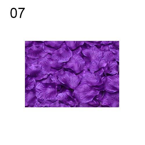 tianxiangjjeu Künstliche Rosenblätter für Hochzeit, Party, Schlafzimmer, Dekoration, 100 Stück, Textil, 7 -