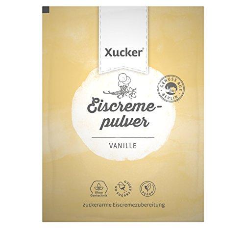 Preisvergleich Produktbild Xucker Eiscremepulver Vanille mit Xylit ohne Zuckerzusatz - 100 g - vegan,  zuckerarm,  ohne Gentechnik – laktosefreies Eispulver DIY – für selbstgemachtes Eis – Made in Germany