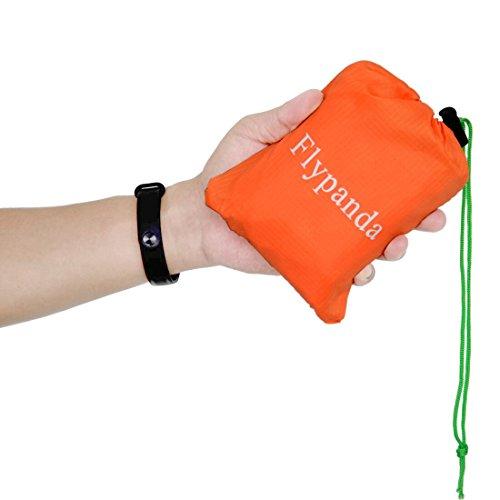 Picknick Decke XXL, Flypanda 200 cm x 150 cm Ultraleicht Outdoor Wasserdicht Stranddecke Leicht und Faltbar mit Tragegurt - Perfekt auch für Strand, Camping oder Garten mit Tasche (200 x 150, Orange)