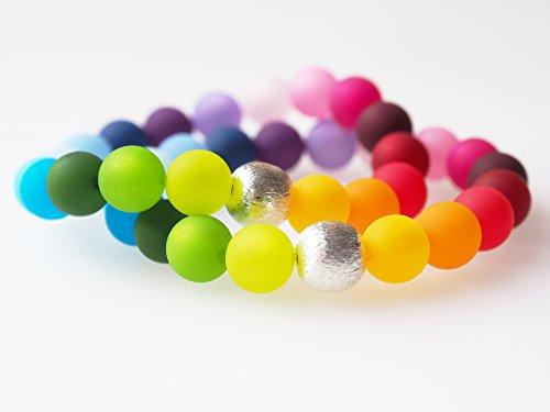 Polarisarmband Regenbogen bunt silber Armband