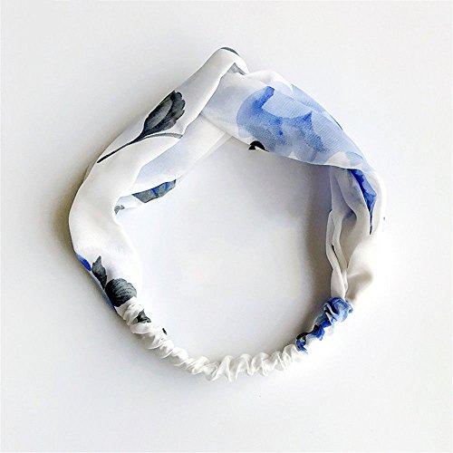 My Dream Day Kopfband leichte Feuchtigkeit WickingThe Verkleidung schön süß Multipurpose Haarband Stempel der ausstellenden Großzügige Headwear, Hellblau geblümten Elastische Multipurpose Haar Band