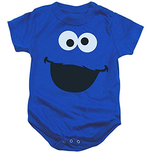 Popfunk Sesame Street Character FACE Infant Buttoned Jumpsuit & Exclusive Sticker 12M 12m Sesame Street