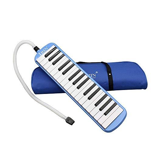 Hamkaw 32 Klaviertasten, Musikinstrument, Musikliebhaber, mit Tragetasche blau