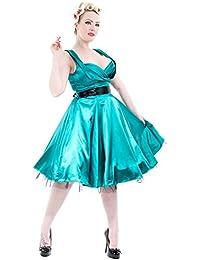 H r & london robe en sATIN 6842 longues pour femme