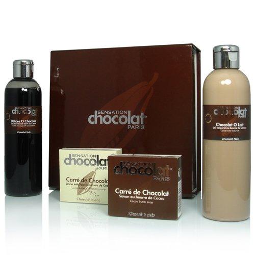 Coffret corps et bain Gourmande Evasion chocolat noir
