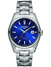 Roamer Men's Automatic Watch with Blue Dial Analogue Display and Silver Stainless Steel Bracelet 210633 41 45 20