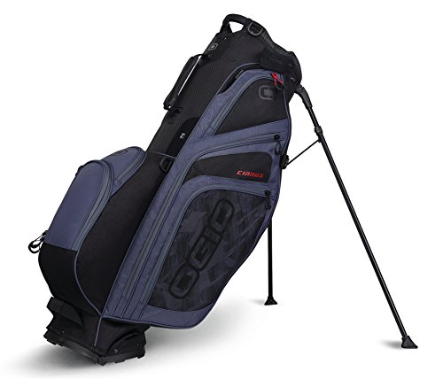Ogio 2018 Cirrus Sac de golf avec support, CIRRUS STAND BAG, Soot Black