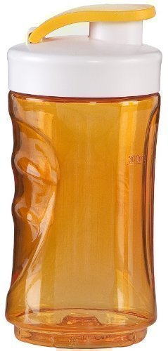 300ml Trinkflasche, Ersatzflasche für Smoothies + Smoothiemaker nutzbar, verschließbarer Ersatzbehälter (orange)