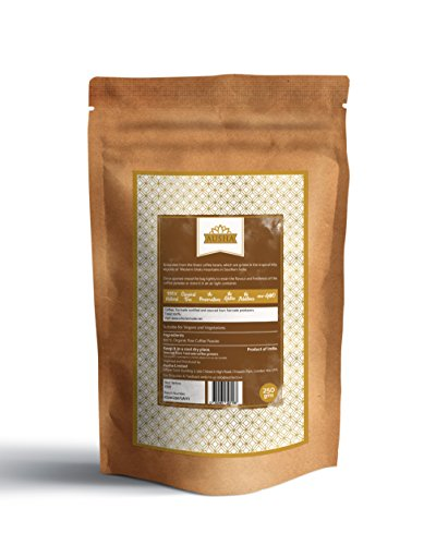 Ausha fairtrade Organic Ground Coffee (Medium Roast Indian Coffee, Filter,cafetiere)