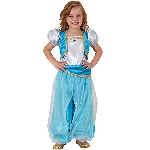 Mortino Kinder Kostüm Orientprinzessin Aisha Orient 1001 Nacht Fasching Karneval (116) (Zigeunerin Tänzerin Kostüm)