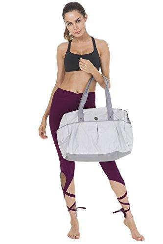 Queenie Ke Yoga Tanzen Gestreckt Gebändert Legging Hose Fuchsie