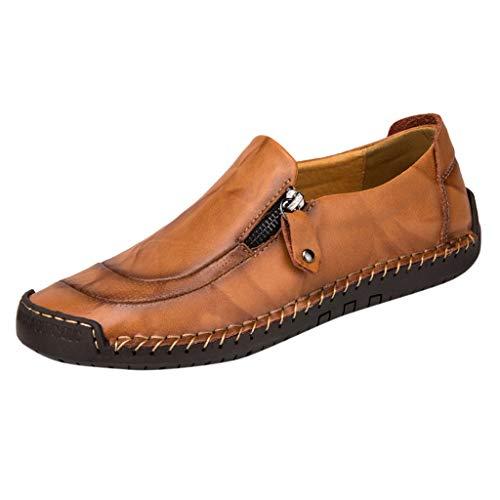 NnuoeN☀ Scarpe Casual da Uomo Scarpe Basse da Cintura in Pelle Piatte Scarpe da Ginnastica da Passeggio Moda Estiva