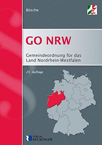 Gemeindeordnung für das Land Nordrhein-Westfalen: GO NRW