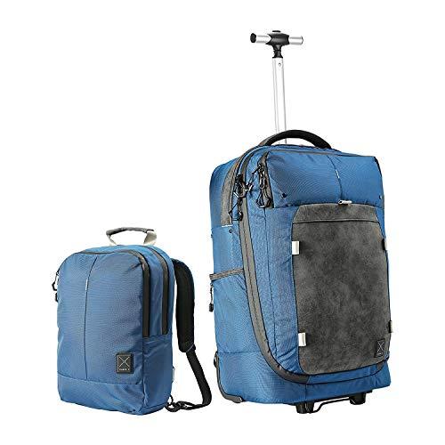 Bagage à Main Hybride à roulettes/Bagage Convertible en Sac à Dos et Sac à Main. Bagage/Valise...