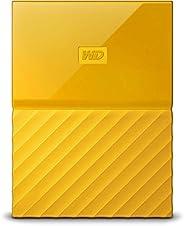 قرص صلب خارجي محمول من ويسترن ديجيتال ماي باسبورت مع منفذ يو اس بي 3.0 بسعة 1 تيرا - اصفر، WDBYNN0010BYL