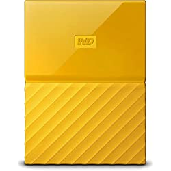 WD My Passport 1 TB Portable Hard Drive and Auto Backup Software for PC, Xbox One and PlayStation 4 - Yellow